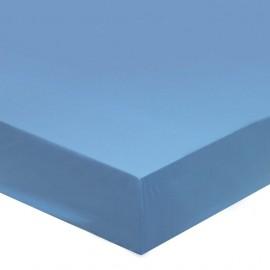 Drap housse coton Bleu Glacier, FRANCOIS HANS