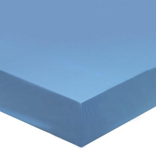 Drap housse Bleu Glacier