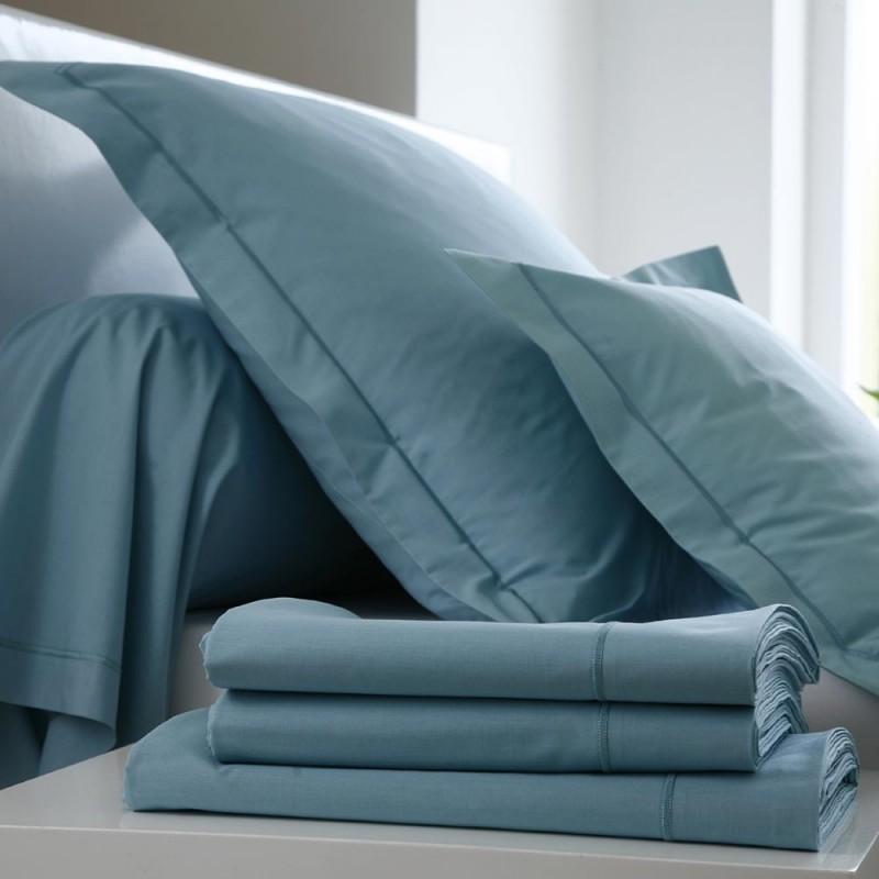 drap housse emeraude coton l au march du linge. Black Bedroom Furniture Sets. Home Design Ideas