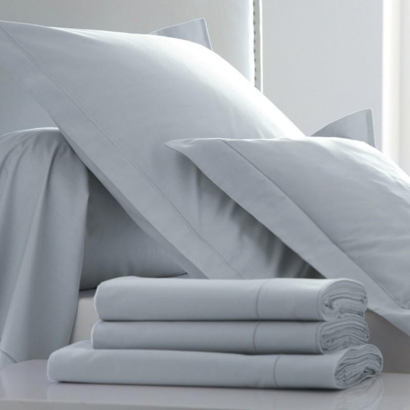 drap plat percale platine l au march du linge. Black Bedroom Furniture Sets. Home Design Ideas