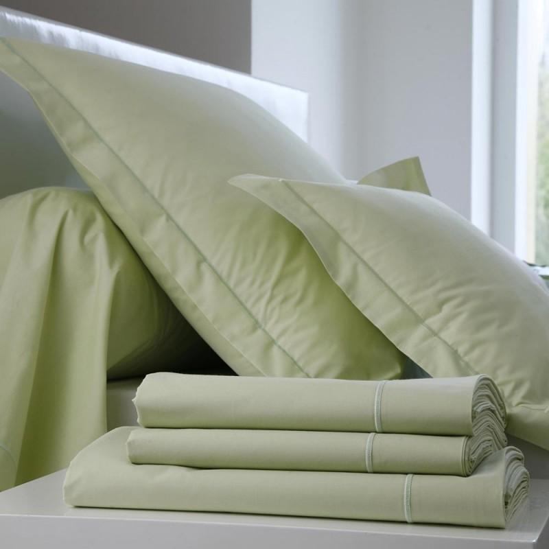 drap housse percale uni anis l au march du linge. Black Bedroom Furniture Sets. Home Design Ideas