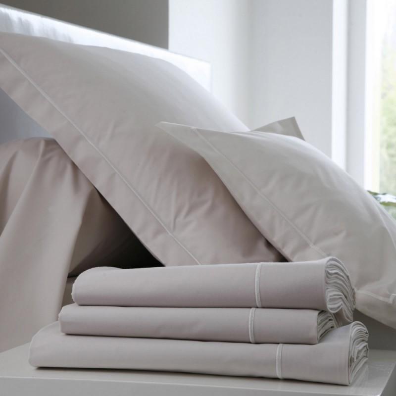 drap housse percale uni lin l au march du linge. Black Bedroom Furniture Sets. Home Design Ideas