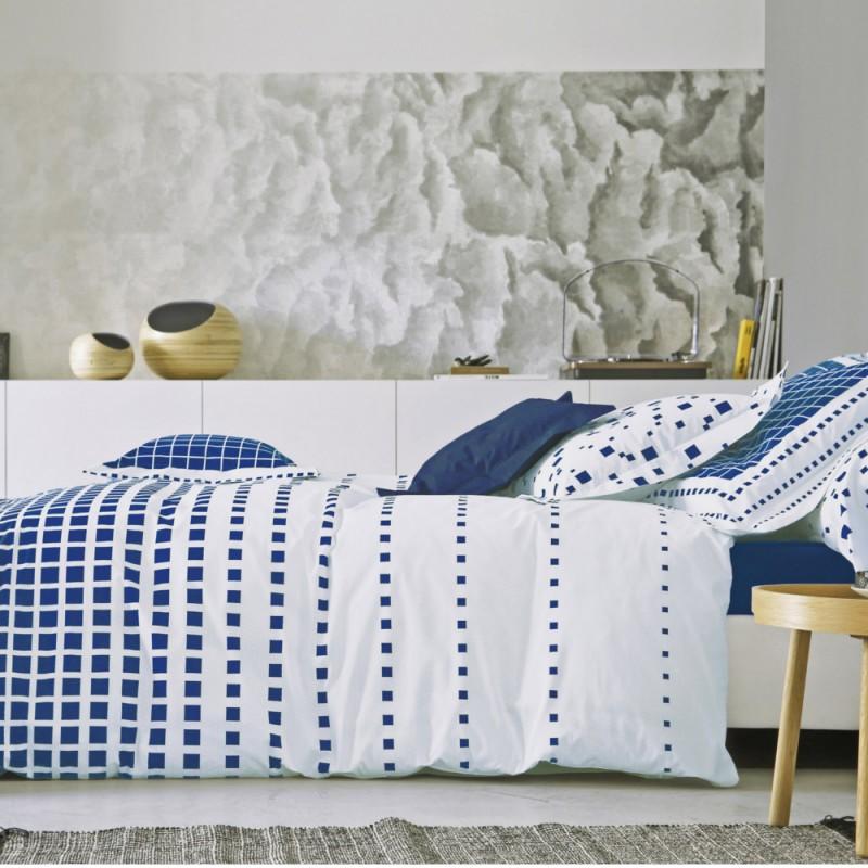 mirage navy blanc des vosges l au march du linge. Black Bedroom Furniture Sets. Home Design Ideas