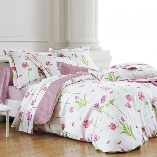auteuil rose sanderson l au march du linge. Black Bedroom Furniture Sets. Home Design Ideas