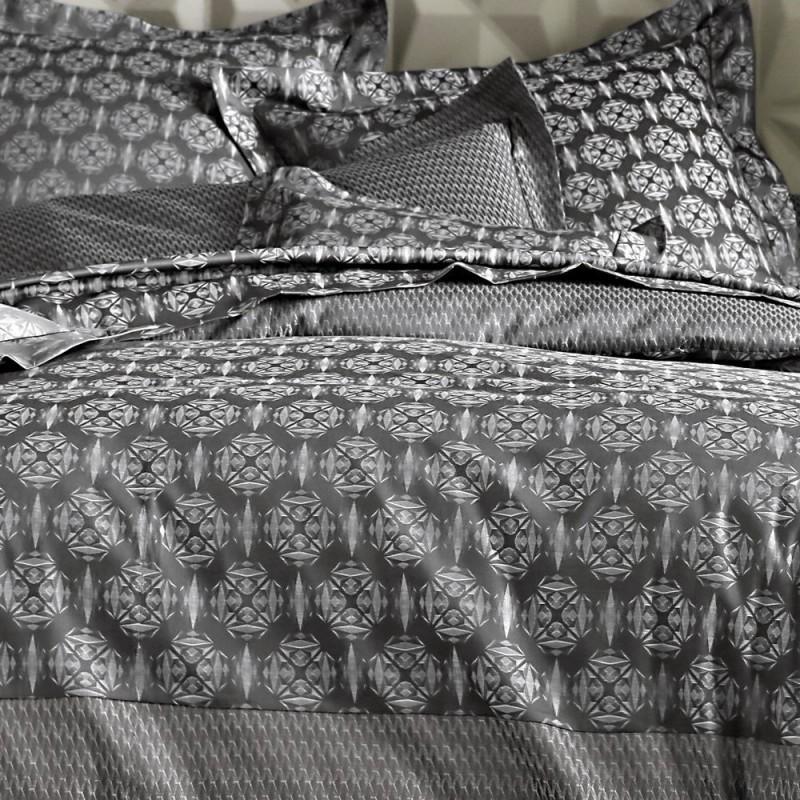 origami anthracite blanc des vosges l au march du linge. Black Bedroom Furniture Sets. Home Design Ideas