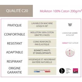 Protège Matelas C20 100% Coton, FRANCOIS HANS