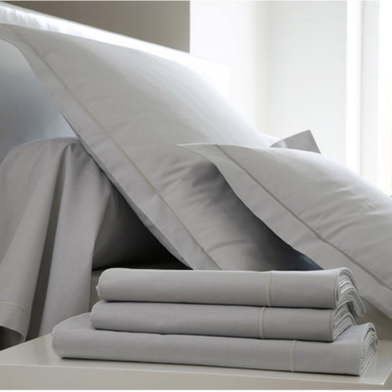 drap housse perle coton l au march du linge. Black Bedroom Furniture Sets. Home Design Ideas
