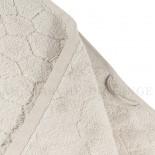 Lot de 2 serviettes + 2 draps de douche + 2 gants BARI Beige 450gr Micro coton