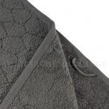Lot de 2 serviettes + 2 draps de douche + 2 gants BARI Anthracite 450gr Micro coton