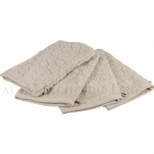 Lot de 4 gants de toilette BARI Beige 450gr Micro coton