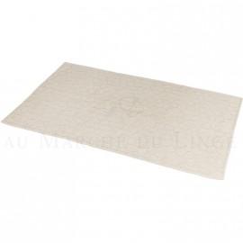 Tapis de bain BARI Beige 60 x 100 cm 1200gr Coton