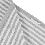 Drap de douche BOSTON Gris Perle 450gr coton