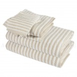 Lot de 2 serviettes + 2 draps de douche + 2 gants BOSTON Beige 450gr coton