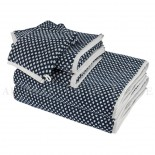 Lot de 2 serviettes + 2 draps de bain + 2 gants BRISTOL Marine 450gr coton