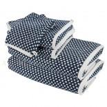 Lot de 2 serviettes + 2 draps de douche + 2 gants BRISTOL Marine 450gr coton