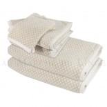 Lot de 2 serviettes + 2 draps de douche + 2 gants BRISTOL Beige 450gr coton