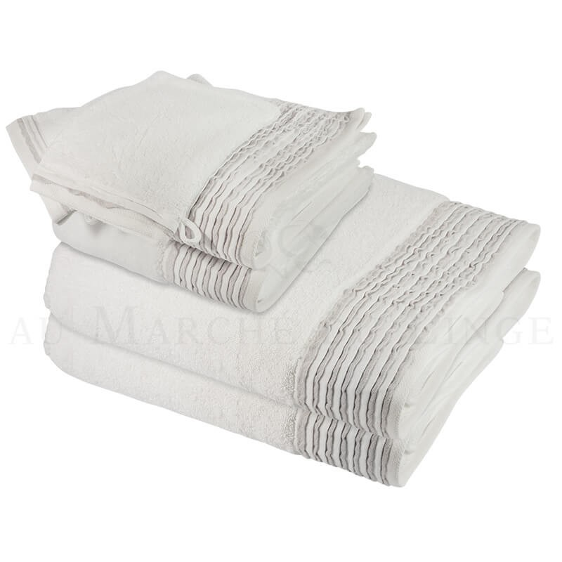 lot de serviettes nice blanc 560 gr m. Black Bedroom Furniture Sets. Home Design Ideas