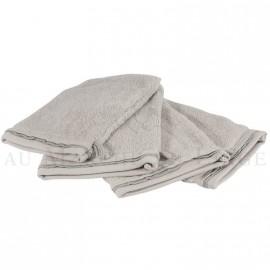 Lot de 4 gants de toilette NICE Gris Perle 560 gr/m²