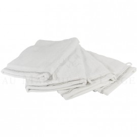 Lot de 4 gants de toilette NICE Blanc 560 gr/m²