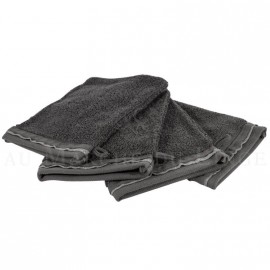 Lot de 4 gants de toilette NICE Anthracite 560 gr/m²