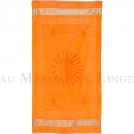 SUN Orange Drap de plage, Coton & lin