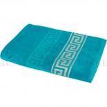 SUN Bleu Pétrole Drap de plage, Coton & lin