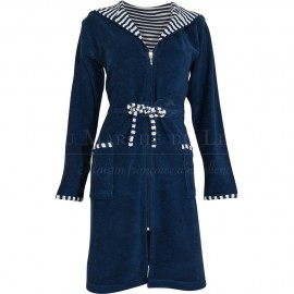 Peignoir BEACH Bleu Navy,  Coton & Lin