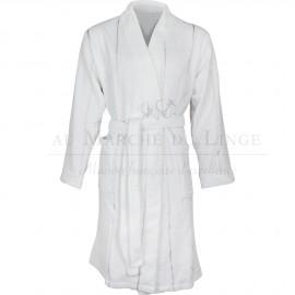 Peignoir GRECO Blanc Coton & Lin