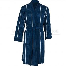 Peignoir GRECO Bleu Navy Coton & Lin