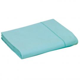Drap plat Percale Aqua, FRANCOIS HANS