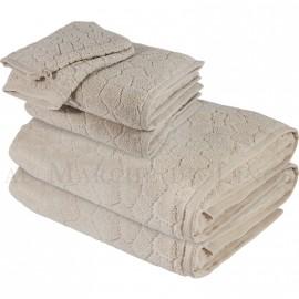 Lot serviettes BARI Beige 450gr Micro coton