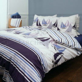 Parure en percale, SKIPPER Navy
