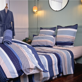 Parure en percale, James Navy