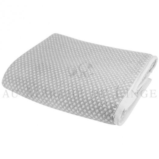 Lot de 2 serviettes + 2 draps de bain + 2 gants BRISTOL Gris Perle 450gr coton