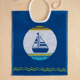 Bavoir enfant bateau bleu, SAILOR De Witte Lietaer
