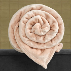 PLAID Polaire Rose 150x200 DE WITTE LIETAER