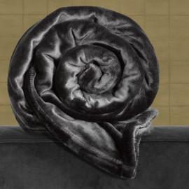PLAID Polaire Noir 150x200 DE WITTE LIETAER