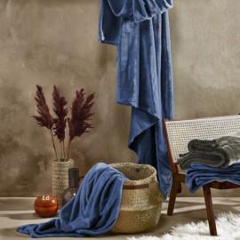 PLAID Polaire Bleu indigo 150x200 DE WITTE LIETAER