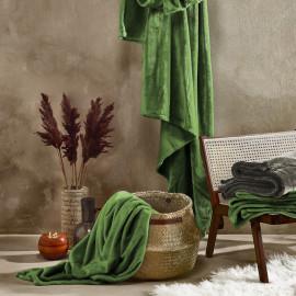 PLAID Polaire Vert Cactus 150x200 DE WITTE LIETAER