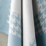 Torchon coton Pied de Poule Bleu Oxyde De Witte Lieater