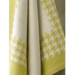 Torchon coton Pied de Poule Jaune Vert De Witte Lieater