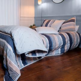 Couvre lit piqué de coton matelassé JAMES, COTON&LIN