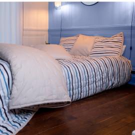 Couvre lit piqué de coton matelassé HORIZON, COTON&LIN