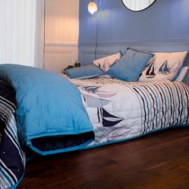 Couvre lit piqué de coton matelassé SKIPPER, COTON&LIN